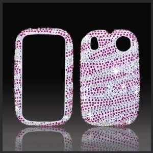 Pink & Silver Zebra Cristalina crystal bling case cover