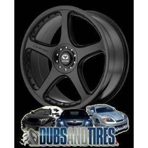 18 Inch 18x8 LORENZO wheels WL28 Satin Black wheels rims