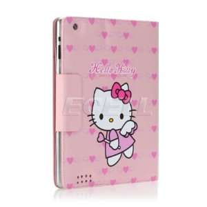 Ecell   PINK HEARTS HELLO KITTY LEATHER CASE & STAND FOR
