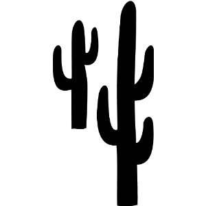 Tree Wall Decals   Cactus 3 Plant life Silhouette   12