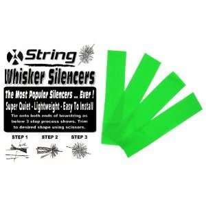 ARCHERY BOWSTRING WHISKER SILENCERS LEAF GREEN 2 PAIR