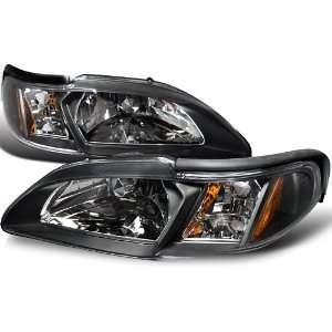Ford Mustang Gt/ Cobra Svt Headlights Black Automotive