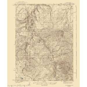USGS TOPO MAP ROWLAND QUAD NEVADA (NV/ID) 1940