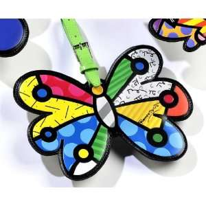 Romero Britto Butterfly Luggage Tag Travel Bags ID Name