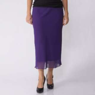 Jody California Womens Long Chiffon Skirt: Clothing
