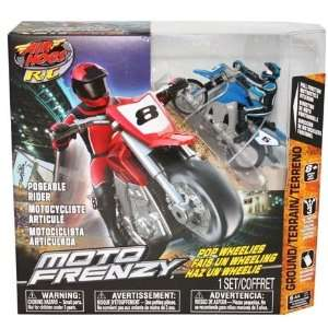 com Air Hogs XSMotors Blue Moto Frenzy Stunt Bike Ch B Toys & Games