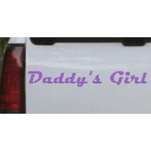 Purple 46in X 6.9in    Daddys Girl Girlie Car Window Wall Laptop Decal