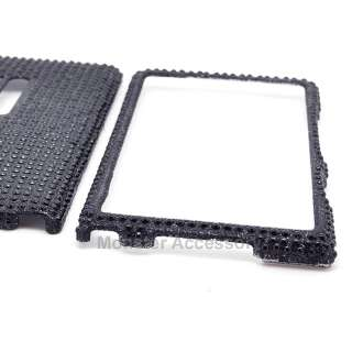 Black Bling Hard Case Snap On Cover For Nokia Lumia 900 AT&T