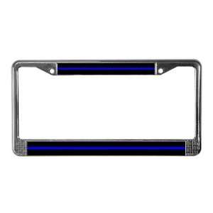 The Thin Blue Line Police License Plate Frame by