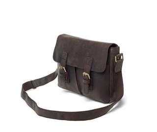 Rustic Leather Messenger Bag Satchel Mailbag Notebook Case Schoolbag