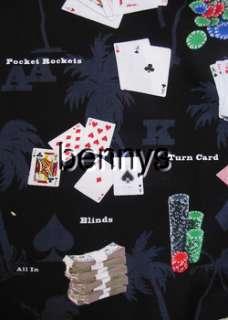 NEW Texas Holdem Las Vegas hawaiian shirt, Bennys, M
