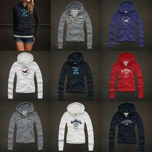 Hollister Abercrombie Womens Sweatshirt Hoodie Fleece Jumper Top