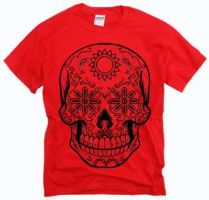 Skull Love Hate tattoo skate tribal colors t shirt