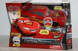 DISNEY PIXAR CARS 2 THE REAL LIGHTNING MCQUEEN INTERACTIVE VEHICLE
