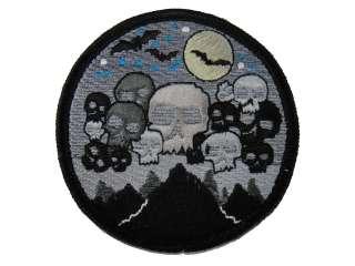 ill Gear Black Night Ops Skull Velcro Patch Zombie