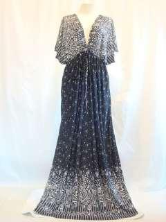 Women Cocktail Black Kimono Long Maxi Dress Sz XL XXL 3XL 18 20 22