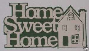 Home Sweet Home Scrapbooking Title Family Love