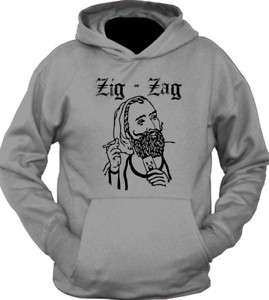 Zig Zag Stoner College Weed Funny Retro Hoodie T Shirt