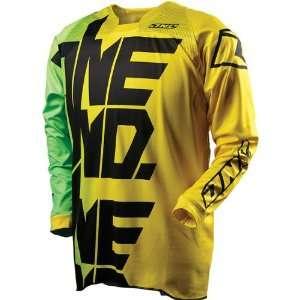 Defcon MotoX/Off Road/Dirt Bike Motorcycle Jersey   Yellow / X Large