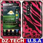 Pink Zebra Stars Hard Case Cover for AT&T LG Thrill 4G P925 / LG