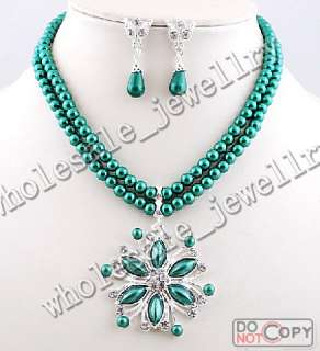 wholesale 6sets alloy&rhinestone&imitate pearl necklace&earring