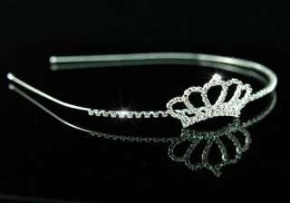 Bridal Flower Girl Crown Crystal Headband Tiara T1217