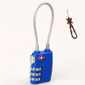 TSA Accepted Security Cable Luggage/Baggage Travel Lock Set Your Own