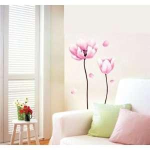 Modern House Perfect Stem Pink Flower II removable Vinyl