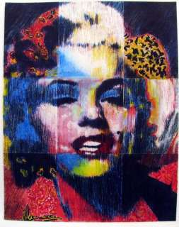Marilyn Monroe POP ART Warhol Max Style ORIG PAINTING