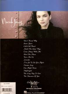 NORAH JONES COME AWAY WITH ME   Song Lyrics Sheet Music