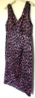 ANDREW MARC New York DRESS Black Pink 100% SILK 4 Evening   FREE