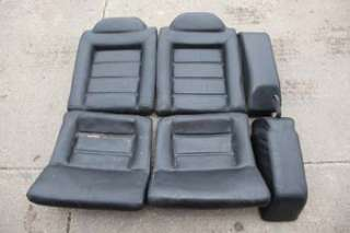 VW VOLKSWAGEN CORRADO G60 FACTORY BLACK LEATHER SEATS FRONT & REAR