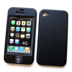 4S Snap on Protector Hard Case Texturized Black Check Pattern Design