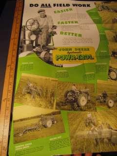 1946 John Deere Tractor POSTER Booklet Catalog