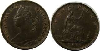 elf Great Britain 1 Farthing 1890 Victoria