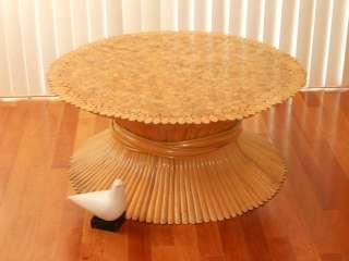 VTG MID CENTURY MODERN TIKI BAMBOO RATTAN COFFEE TABLE McGUIRE Eames