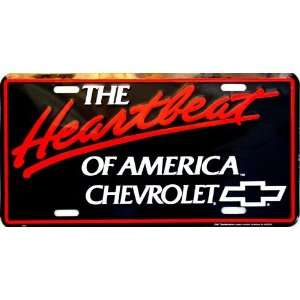 Chevy Heartbeat of America License Plate