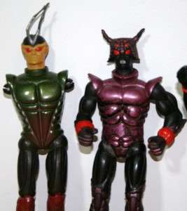 Sectaurs Action Figures Bug People 7 Towns Vintage 1980s Cartoon Toys