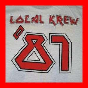 VTG IRON MAIDEN 1987 LOCAL KREW T SHIRT MINT TOUR XL