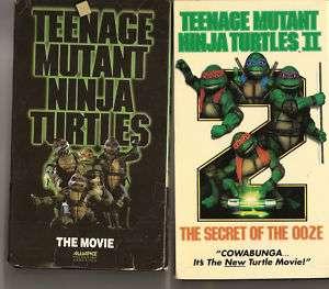 1990 1991 VHS Movie Teenage Mutant Ninja Turtles 1 & 2