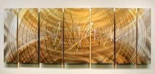 Gold/Silver Abstract Metal Wall Art Sculpture Event Horizon