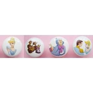 New 4 Handcrafted Disney Princess Cinderella Godmother Prince Mice 1