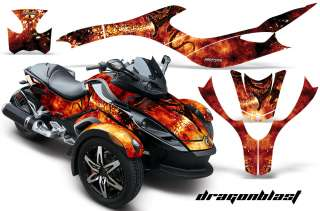 CAN AM BRP SPYDER GRAPHICS KIT DECALS DRAGONBLAST