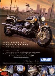1998 Yamaha V Star Custom Motorcycle Photo print ad