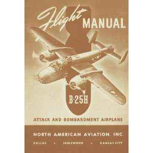 North American Aviation B 25 H Aircraft Flight Manual