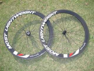 Super Light Weights 700C 50mm Clincher Carbon Fiber Wheelset for Road