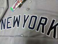 2012 New York Yankees BLANK Road Gray Sewn Jersey High Quality Mens 6