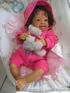 AA ethnic baby reborn girl doll kit Antoinette Linda Murray by Sylvie
