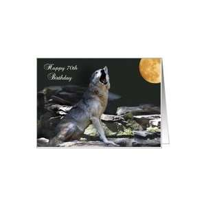 70th birthday, American Indian wolf Card: Toys & Games