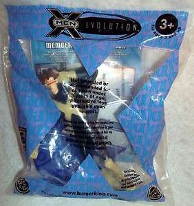BURGER KING TOY   X MEN EVOLUTION CYCLOP WITH MINI CD ROM